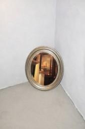 Ovaler Spiegel Antik-Silber